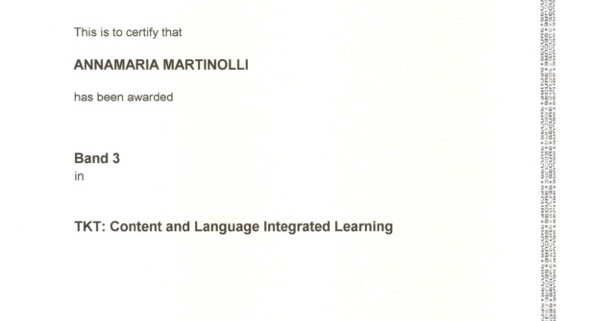 Certificato CLIL Cambridge